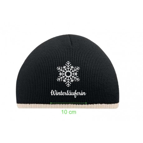 Beechfield Two-Tone Beanie Knitted Hat Winterläuferin